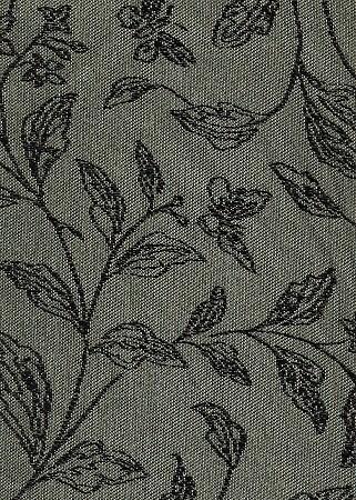 Teal Gray Black Fl Pattern Indoor, Indoor Outdoor Fabrics